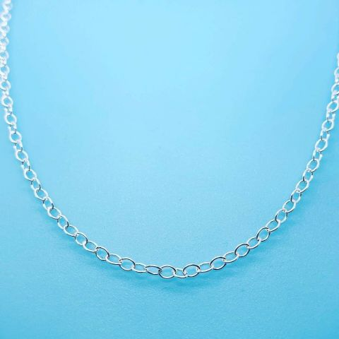 Genuine 925 Sterling Silver Oval Belcher Chain Available in Different Lengths